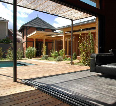 les 11 meilleures images du tableau baie vitr e sur pinterest baies vitr es projet maison et. Black Bedroom Furniture Sets. Home Design Ideas