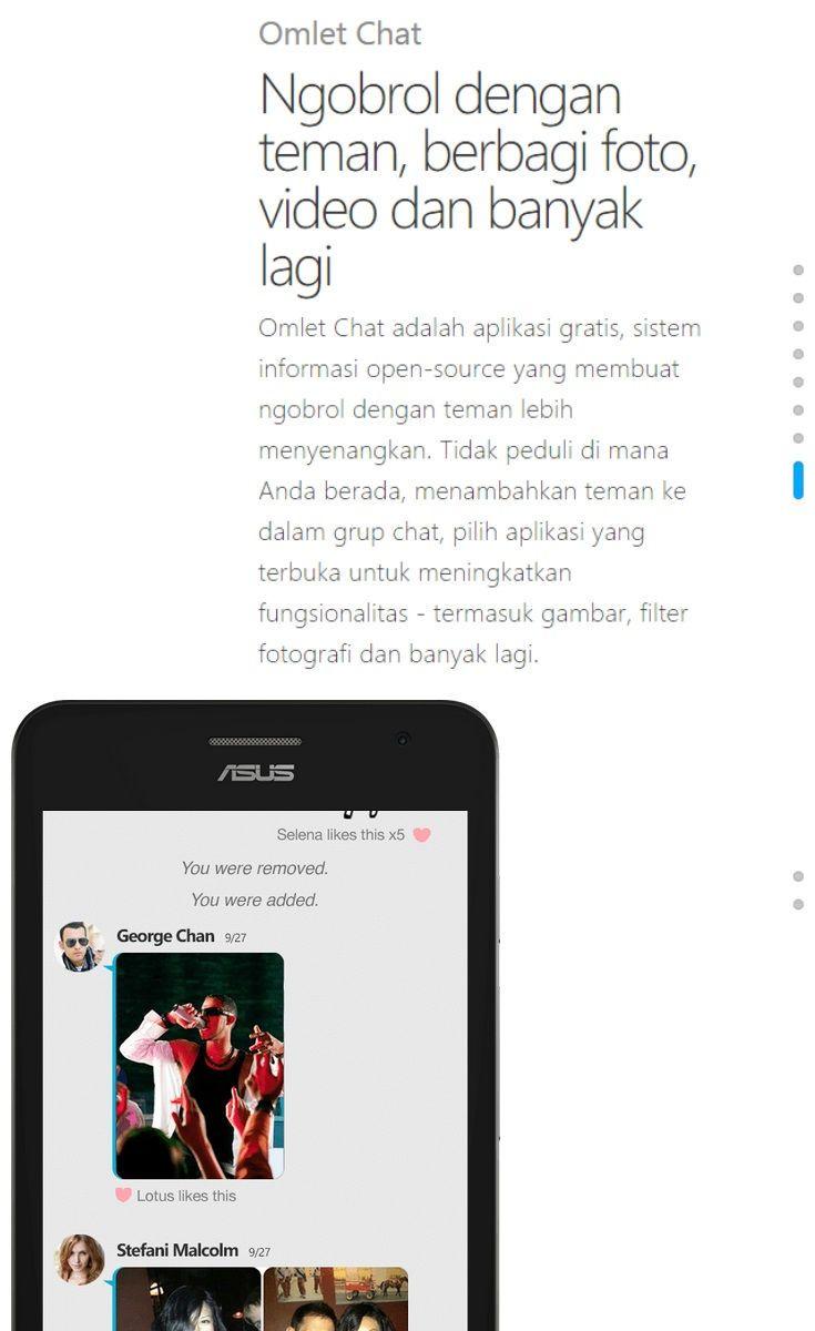 ASUS ZenFone Smartphone Android Terbaik, Omlet Chat: Ngobrol dengan teman, berbagi foto, video dan banyak lagi http://lepaslokan.blogspot.com/2014/08/asus-zenfone-smartphone-android-terbaik.html