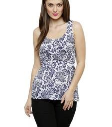 Buy Multicolor Poly Cotton Printed Poly Cotton tops top online
