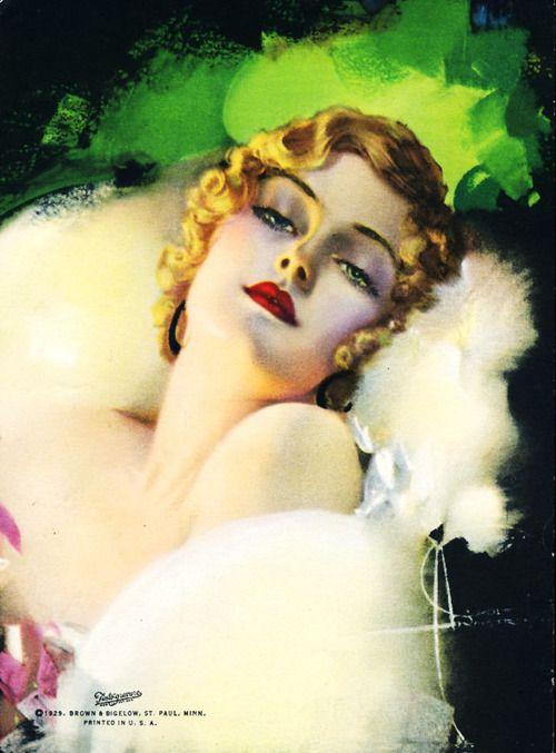 Rolf Armstrong 1929 ~ beautiful woman art