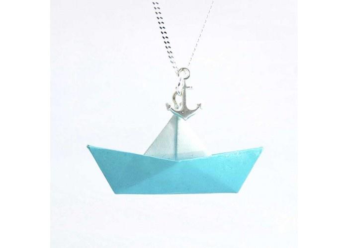 Paper necklace Collier bateau