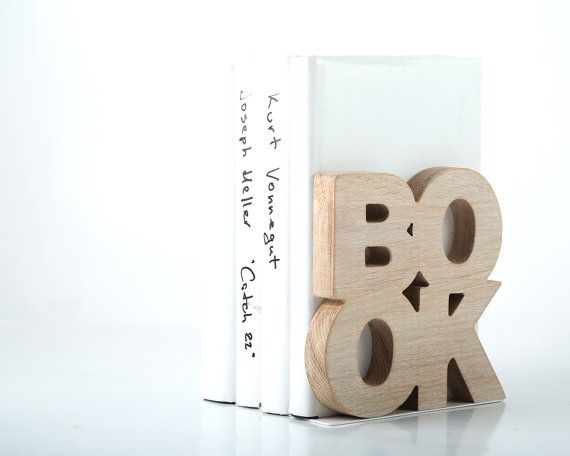 Modern bookend BookOne Wooden edition // by DesignAtelierArticle