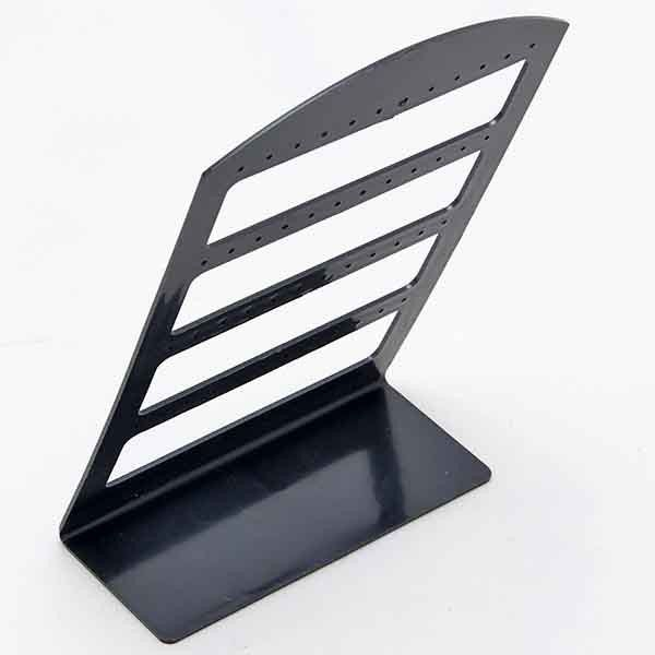 Black Plastic Display Rack Stand Holder Organizer 24 Pairs Earring Jewelry Show