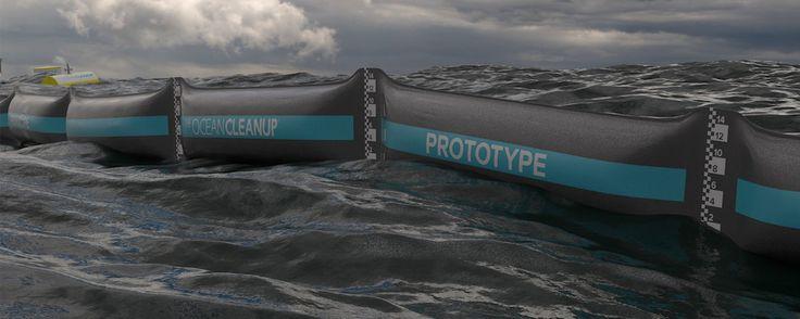 Nel mare olandese iniziano i test di pulizia dalla plastica di The Ocean Cleanup di Boyan Slat