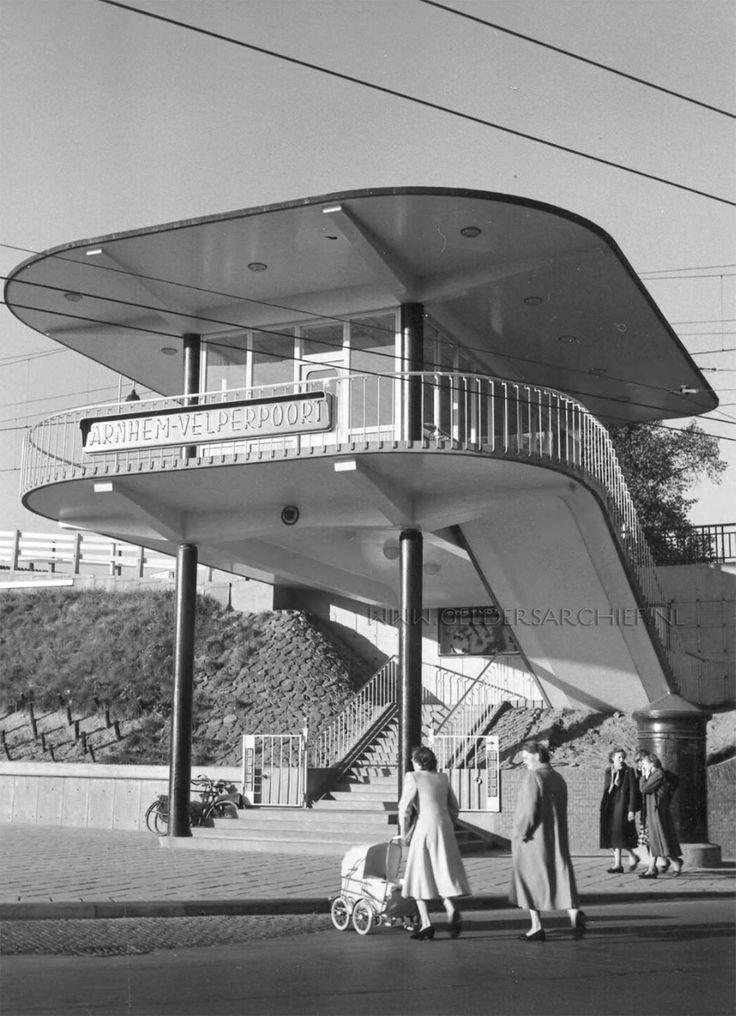 Arnhem, Velperpoort (Station), 1954