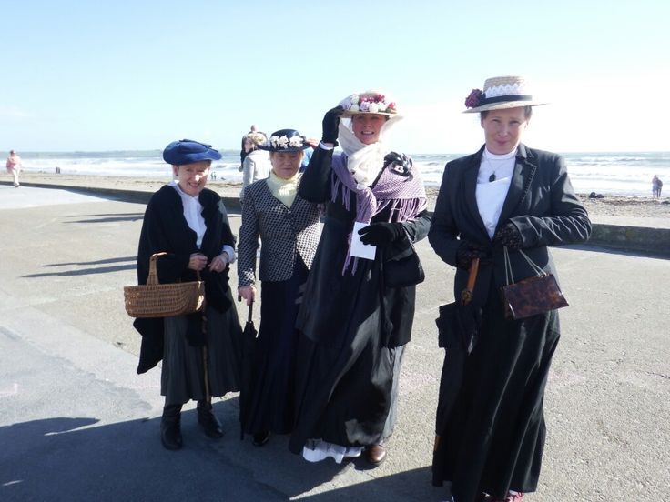 The Tramore Promenaders at the Maritime Festival in Tramore September 2016 #vintage #Edwardian #style #Victorian