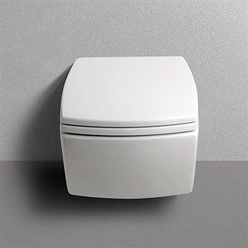 Væghængt toilet Square i minimalistisk stil. Made in Italy