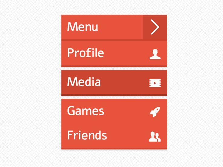 CSS Flatly menu Menu and Ui design - best of blueprint css menu