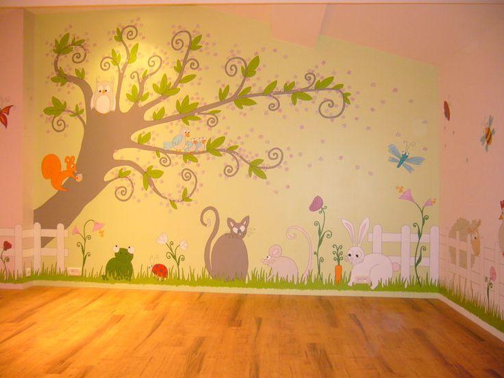Peinture murale chambre enfant for Peinture murale enfant