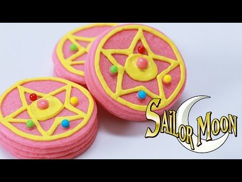 Make your own Sailor Moon brooch cookies