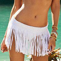 Beach Cover Up Tassel Skirt- Multi Colors