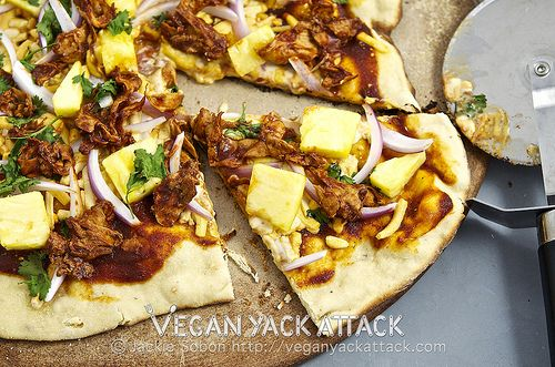BBQ Gardein Pineapple Pizza & Vegan Pizza Day!