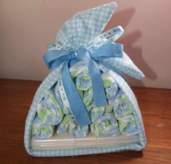 Diaper Bundle with Small Wipe Container
