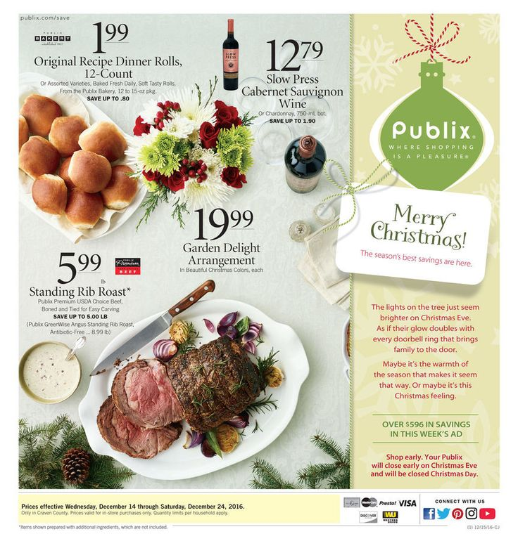 Publix Weekly Ad December 14 - 24 Merry Christmas!