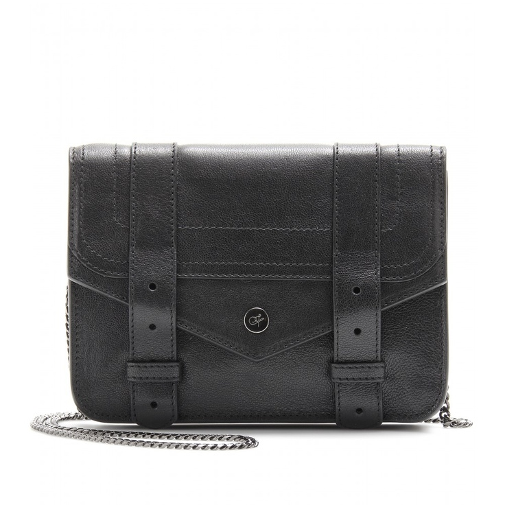 PS1 LARGE CHAIN LEATHER SHOULDER BAG  seen @ www.mytheresa.com