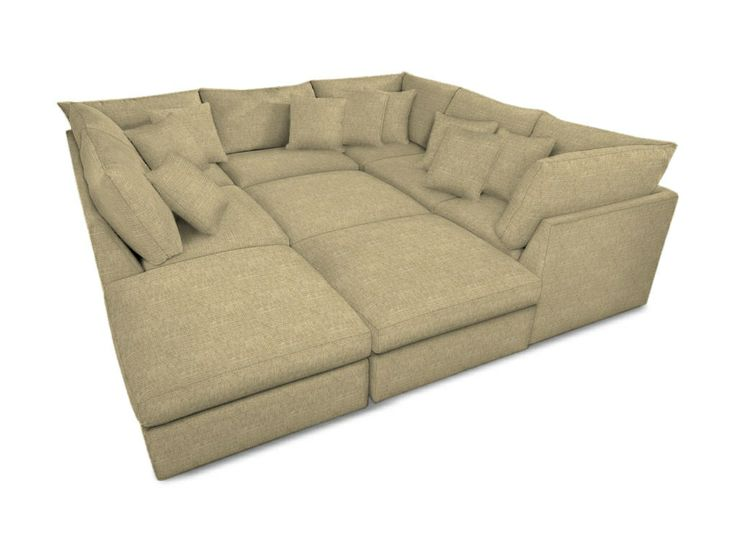 sectional pit furniture bassett living room pit sectional 3974psect bacons furniture