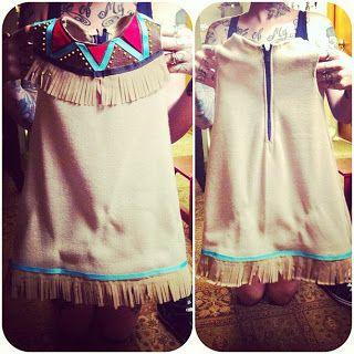 Halloween - diy toddler native american costume
