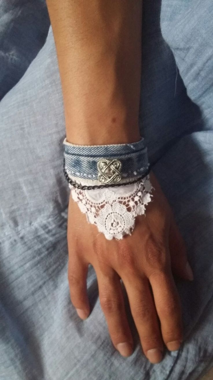 Handmade bracelet/cuff with antique lace (over 40 years old) and vintage button. The closure is adjustable. Made by me