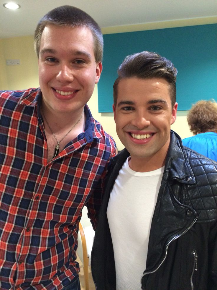 Joe Mcelderry and fans at vip