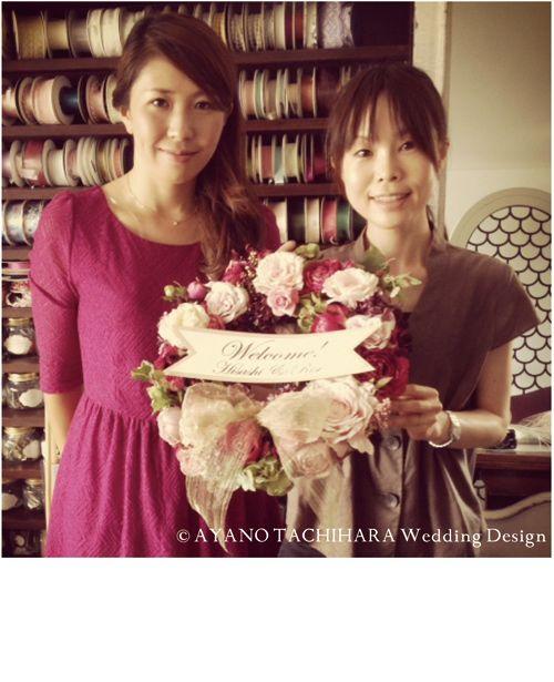 Ayano Tachihara 結婚式  ウェルカムリース