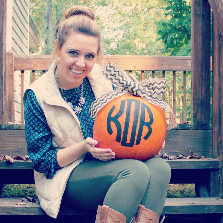 Can't wait to make monogram pumpkins this fall! Painting instead of carving gives you a little extra time with the pumpkins in the southern heat.