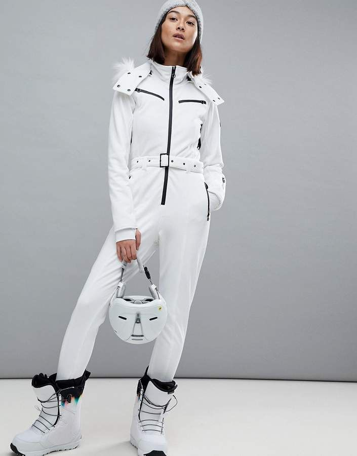 88a167c79a4 ASOS 4505 SKI Jumpsuit In All White