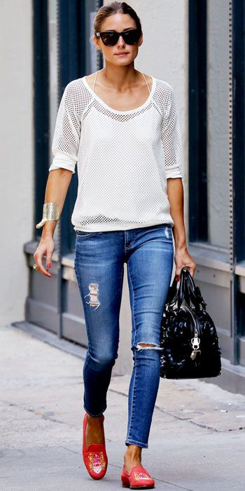 Olivia Palermo's 28 Best Looks Ever - AG Jeans from #InStyle - so casual I love it