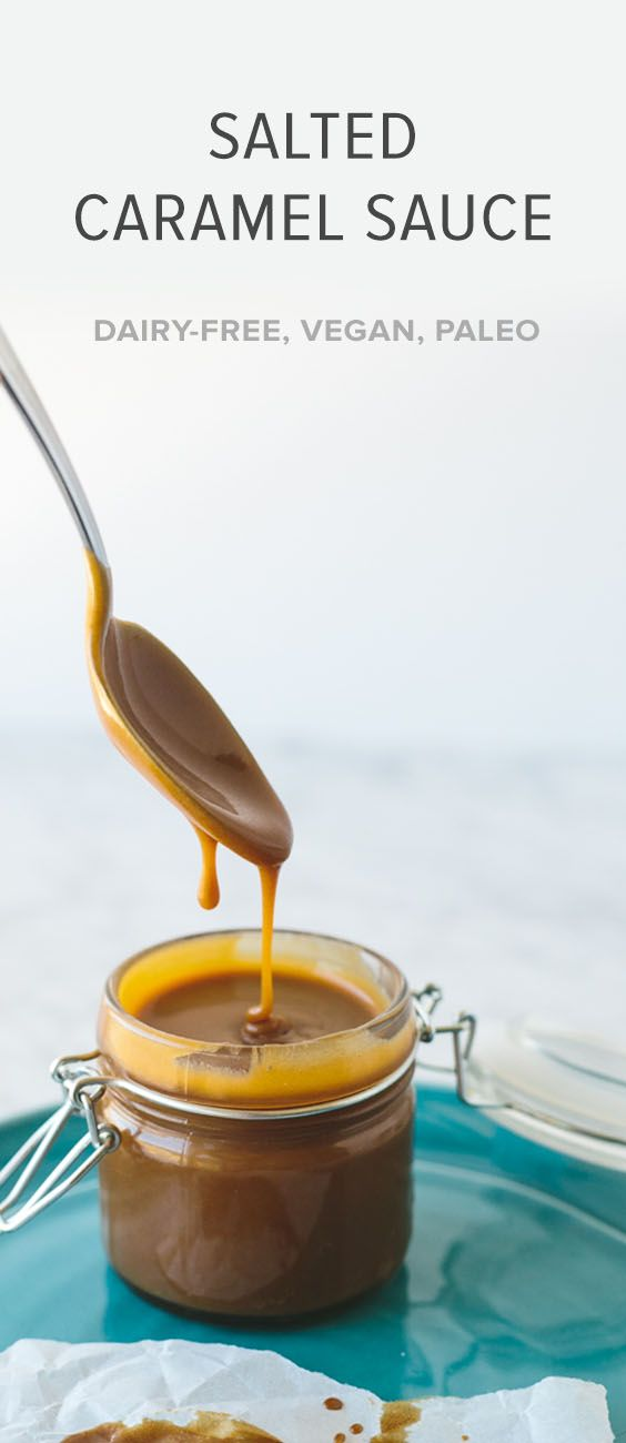 (dairy-free, vegan, paleo) A healthier take on salted caramel sauce that's made from coconut milk and coconut sugar.