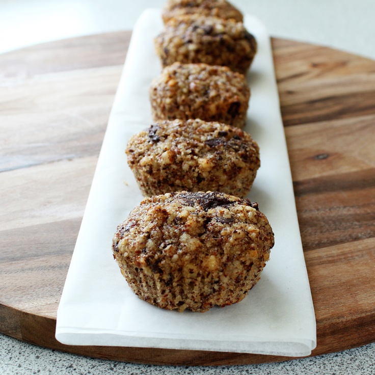 Nut muffins with chocolate