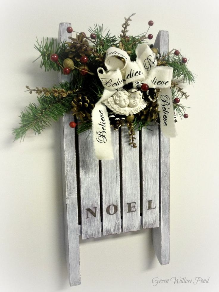 Christmas Wall Decor Pinterest : Best images about sleds on front porches