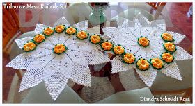 Diandra Arte em Crochê: TRILHO DE MESA RAIO DE SOL