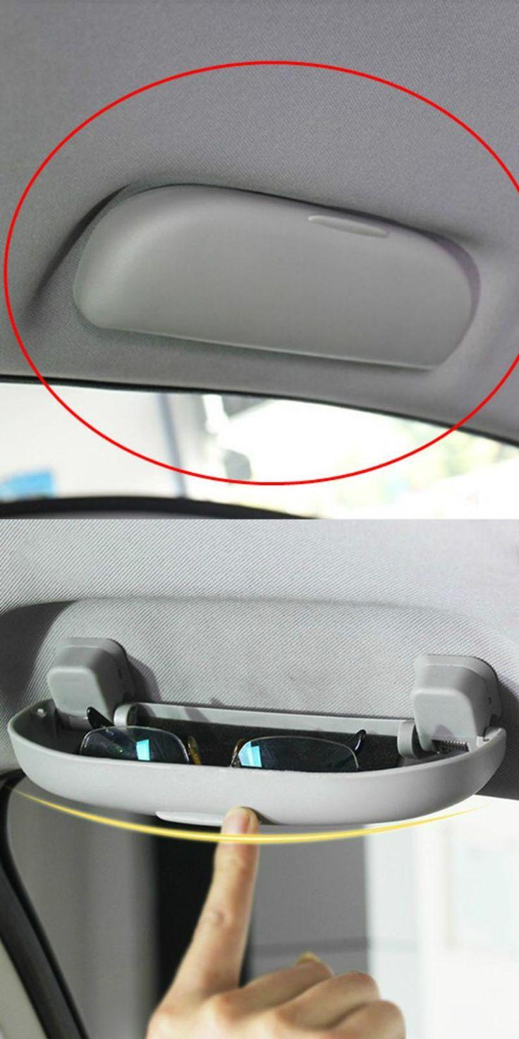 [Visit to Buy] 1 pcs Car Glasses Case holder For Mitsubishi Outlander Lancer EX ASX Outlander Sport Accessories 2011 - 2015 2016 Car-Styling #Advertisement