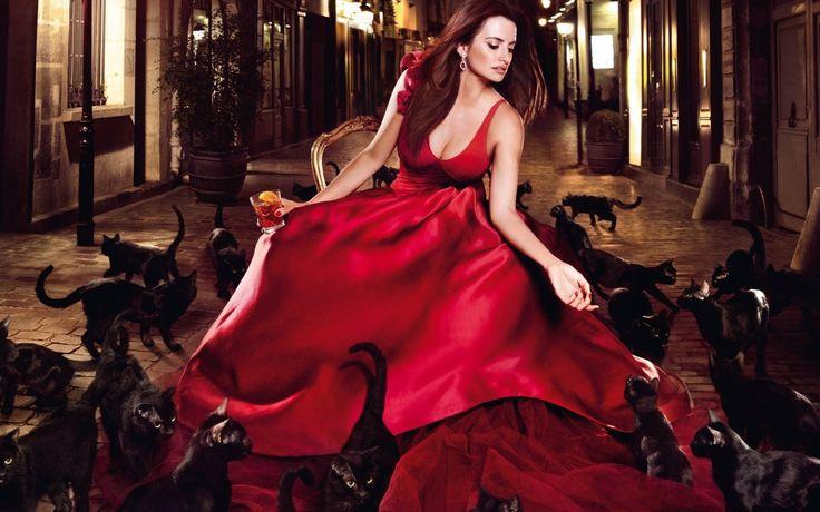 Penelope Cruz, 2014, Пенелопа Крус, красное роскошное платье