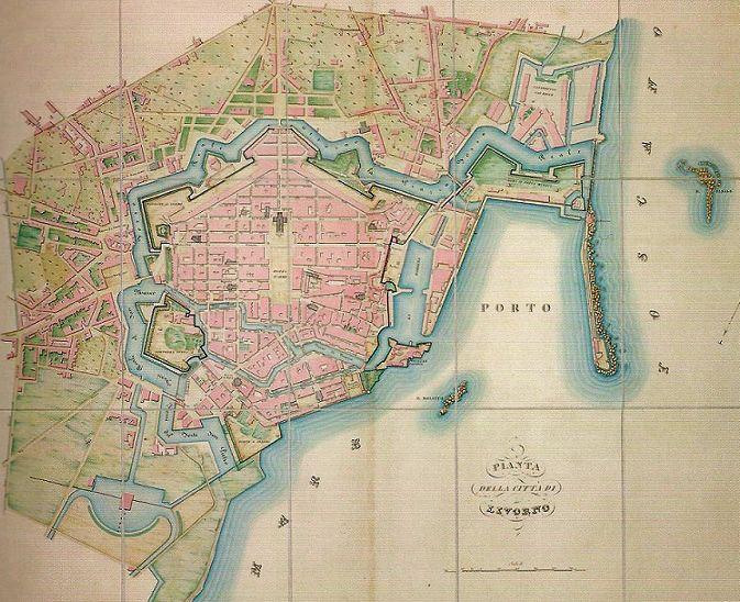 Pianta di Livorno (primi '800)