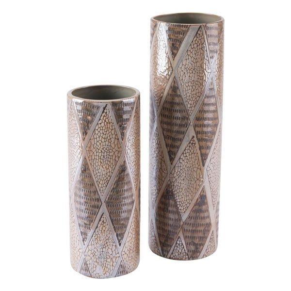 Pearl Short Cylinder Vase Brown (Ceramic)