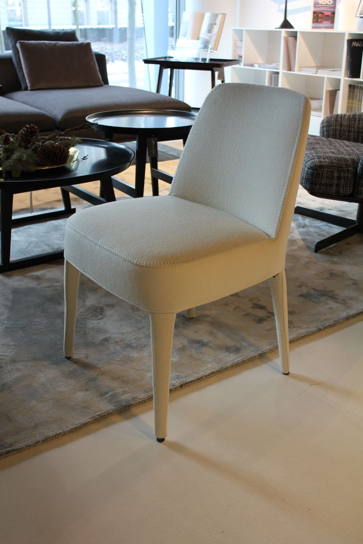 Designet er helt gennemført på denne spisebordsstol fra B&B Italia