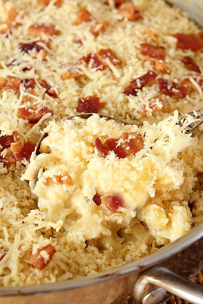 This Smoked Gouda Macaroni and Cheese with Bacon is rich and warm and the perfect accompaniment to a cold weather meal!