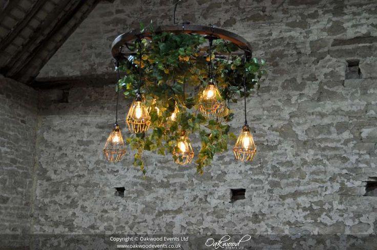 Our stylish Edison cartwheel chandelier