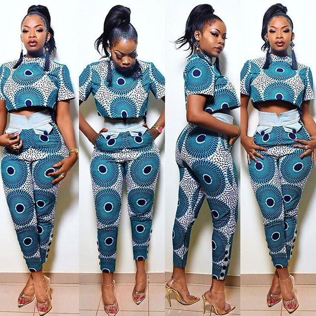 lovely ankara trouser styles with matching top