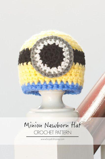 http://www.hopefulhoney.com/2014/06/newborn-minion-inspired-hat-crochet.html