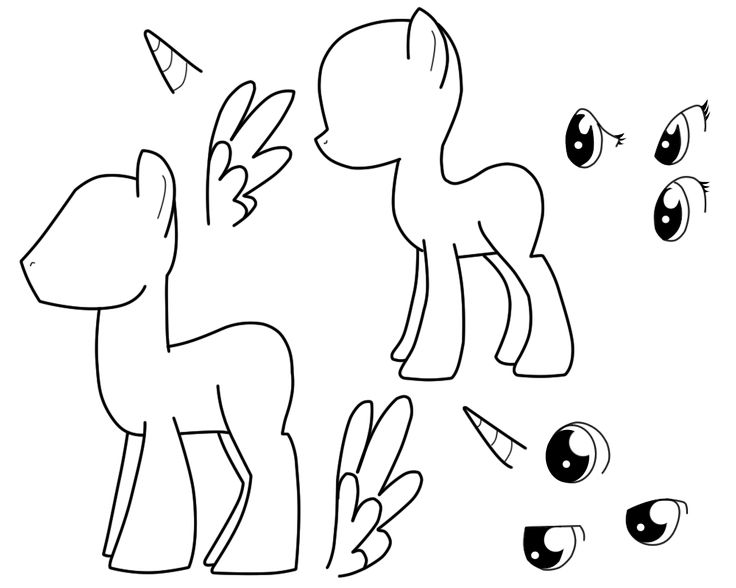Male amp female pony base template