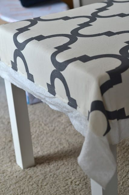 sarah m. dorsey designs: Lack Tables to Upholstered Ottomans