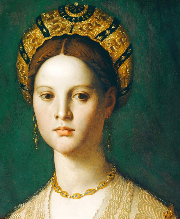 A Young Woman and Her Little Boy - Agnolo Bronzino. Detail.