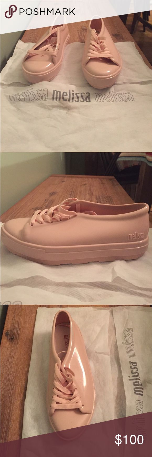NEW!!!! Melissa light pink sneakers NEW!!!! Light pink, rubber sneaker. Original Melissa from Brazil and made in Brazil. Melissa Shoes Sneakers