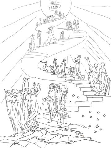 Jacob 39 s Ladder Dream Coloring page Sunday School Lessons