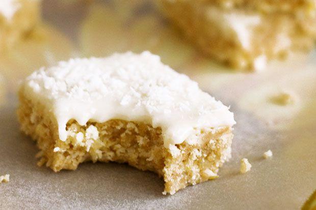 Lemon coconut slice - an easy, no cook sweet treat!