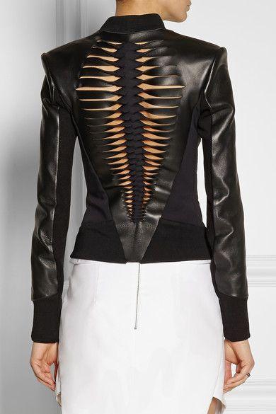 Dion Lee leather biker jacket
