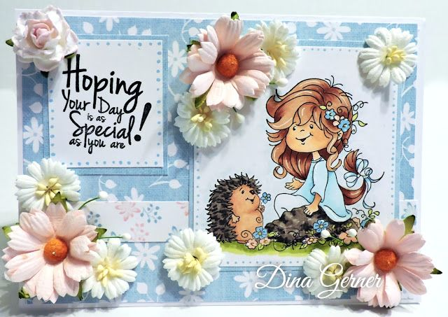 """High Hopes Stamps: As Special as You are by Dina using High Hopes New Release Stamp """"Blooming Friends"""" & """"Hoping Your Day""""  Sentiment"""