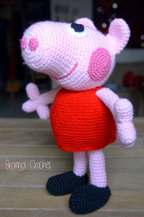 Peppa Pig Amigurumi doll by BramaCrochet on Etsy