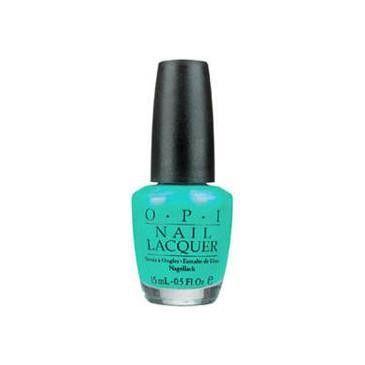 Sea green nail polish